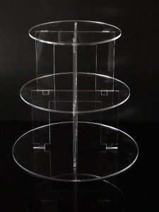 Newly listed 3 TIER CIRCLE ACRYLIC CUPCAKE PARTY WEDDING CAKE STAND