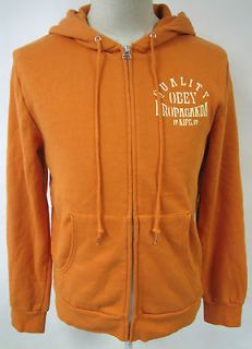 OBEY CLOTHING QUALITY PROPAGANDA MENS HOODIE SWEATSHIRT NWT BURNT