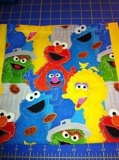 Sesame Street Elmo Big Bird Ernie Cookie Monster Grinch Tote Bag 10x10