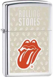 Cigarette Lighter~Rollin​g Stones~Lips & Tongue Logo~Polished Chrome