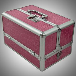 Newly listed ALUMINUM MAKE UP CASE PINK MEDIUM COSMETIC MAKEUP TRAIN w
