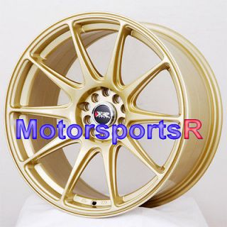 XXR 527 Gold Concave Rims Wheels 5x100 08 10 11 12 13 Scion TC FRS xA