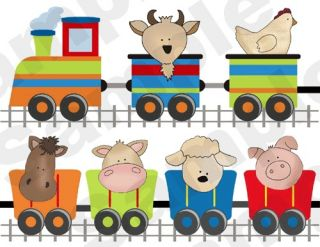 BARNYARD FARM ANIMALS HORSE COW SHEEP TRAIN BABY NURSERY WALL STICKERS