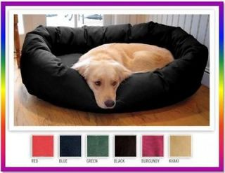 Large 52 Pet Dog Dogs Soft Luxury Heavy Duty Bagel Donut Bed Beds 6
