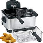 Compact Stainless Steel Electric Dual Basket Deep Fryer