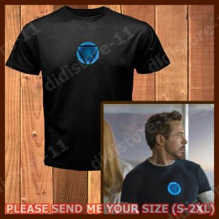 NEW The Avengers T Shirt Tony Stark Arc Reactor Iron Man 3 Tee S 2XL