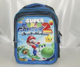 16 Super Mario Bros Galaxy 2 YOSHI green Backpack School Book Bag