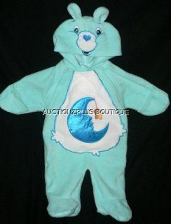 CARE BEARS BABY BEDTIME BEAR BLUE 1 PC SLEEPER HOODED COSTUME