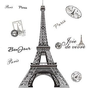 eiffel tower wall decal in Decals, Stickers & Vinyl Art