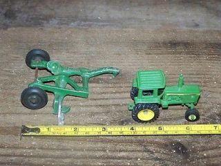 Two (2) Diecast Farm Equipment John Deere Tractor & Plow SMALL
