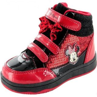 Girls Disney Minnie Mouse Solano Hi Top Trainers Boots Shoe Sizes 6 12