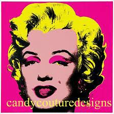20 WATER SLIDE NAIL ART TRANSFERS 5/8 INCH MARILYN MONROE ON PINK