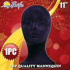 Black Velvet Mannequin Foam MODEL Wig HEADS Styrofoam