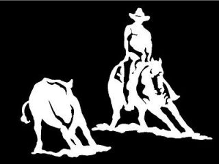 Cowboy Decal Country Western Vinyl Horse Sticker For Car Truck Window
