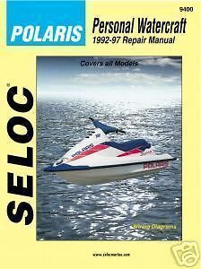 Seloc #9400 Polaris PWC Waverunner Jet Ski 1992 97 Motor Engine Repair
