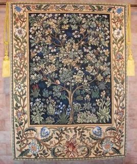 tapestry wall hanging tree of life william morris time left