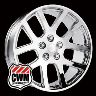 22x10 Dodge Ram SRT10 Replica Chrome Wheels Rims for Dodge Ram 1500