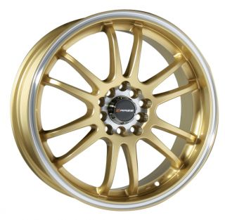 18 GOLD WHEEL RIM MITSUBISHI LANCER EVOLUTION EVO VIII VIIII 350Z 370Z