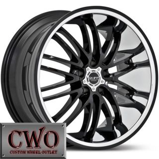 20 Black Ruff R941 Wheels Rims 5x120 5 Lug BMW 5 6 7 8 9 Series