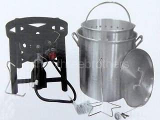 New 36 Quart Outdoor TURKEY FRYER Deep Steamer & Food Boiler Pot Stand
