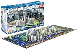 4D Cityscape New York City Skyline Time Puzzle 700 Pcs