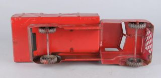 Vintage Marx Pressed Steel Stake Bed Toy Truck