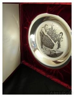 Trimming Tree by Norman Rockwell Franklin Mint Sterling Silver