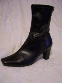 A2 Aerosoles Womens Black Ankle Boots Size 8M