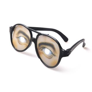 Plastic Funny Practical Joke Glasses with Eye Pattern Halloween Prop
