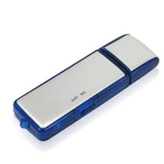 8GB Blue Color Spy Audio Digital Voice Recorder USB Pen Flash Drive
