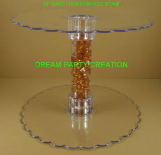 12 Clear Acrylic Cupcake Cake Centerpiece Stand