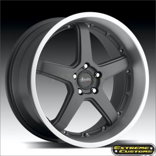 18 x9 5 Advanti Racing Traktion 61MB Gun Metal 5 Lug Wheels Rims Free