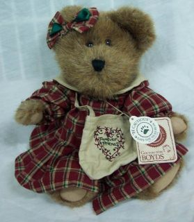 Boyds Aimee Warmheart The Teddy Bear 10 Plush Stuffed Animal Toy New