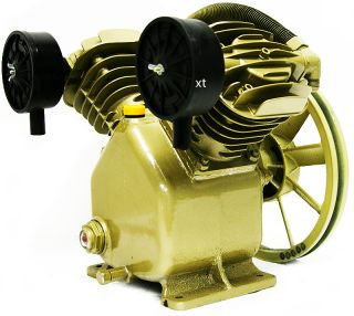 2HP Twin Cylinder Air Compressor Head Pump 140PSI V Type Air Tools