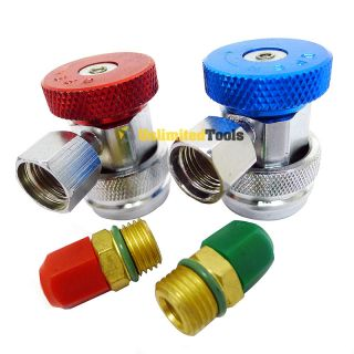 Air Condition Manifold Freon Quick Coupler R134a Adapters High Low