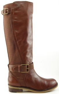 Lucky Brand Aida Sequoia Leather Womens Designer Shoes Knee High Boots