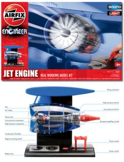 Airfix Engineer Model Kit Jet Engine Working Model Sound and Light