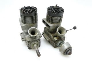 LOT OF 2 VINTAGE MCcOY 35 CL NITRO GAS MODEL AIRPLANE ENGINES