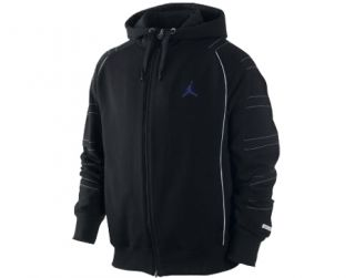 Nike Air Jordan Dri Fit AJ 11 Black Concord Mens Hoodie Sweatshirt