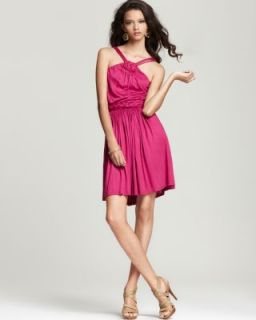 Akiko New Pink Celtic Knot Above Knee Sleeveless Belted Casual Dress s
