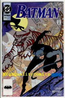 Batman 460 Alan Grant NM M 91 Catwoman Gotham City