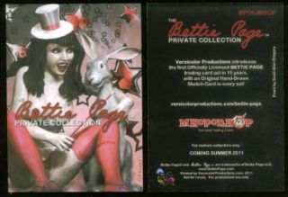 THE BETTIE PAGE PRIVATE COLLECTION Complete Card Set in TIN + PROMOS #