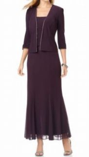 Alex Evenings 2pc Social Long Dress Jacket 12 $169