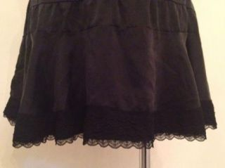 Alannah Hill Black Silk Skirt Size 12