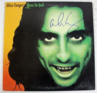 ALICE COOPER GOES TO HELL SIGNED ALBUM COVER W/ VINYL JSA #F77184