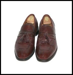Allen Edmonds Mens Dress Shoes Cannondale Merlot Size 11 5 E Loafers