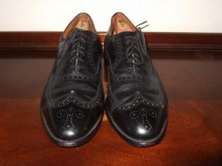 Allen Edmonds Chester Black Leather Wingtip Oxford Shoes Mens Sz.13 D