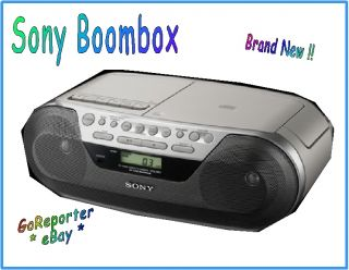 Sony Am FM Radio Cassette Recorder CD Player New