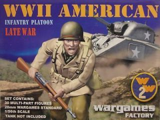 Wargames Factory 28mm American Infantry Platoon Late War 30 Multipose