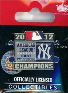 Yankees AL East Division Champs Pin Champions american league 2012